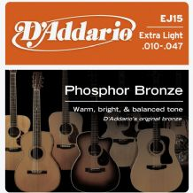 D'Addario 10-47 Extra Light Acoustic Guitar Strings